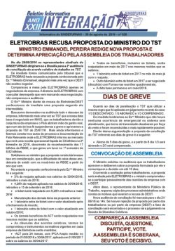 ELETROBRAS RECUSA PROPOSTA DO MINISTRO DO TST