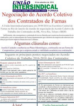 Negociação do Acordo Coletivo dos Contratados de Furnas