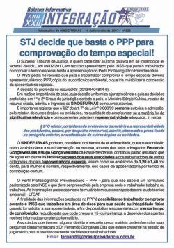 STJ decide que basta o PPP para comprovação do tempo especial!