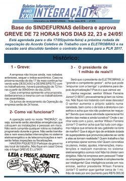 Base do SINDEFURNAS delibera e aprova GREVE